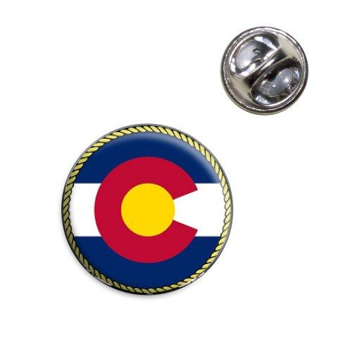 Colorado State Flag Lapel Hat Tie Pin Tack (Colorado Lapel Pin)