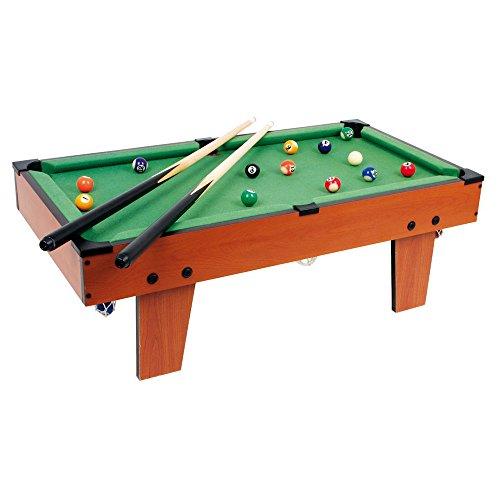 Legler Tischbillard Maxi aus Holz, ideal zum Mitnehmen, schult spielerisch die Hand-Augen-Koordination, für kleine und große Billard-Fans ab 5 Jahre