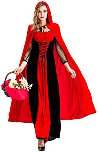 RENJIANFENG Disfraz De Caperucita Roja para Mujer Navidad ...