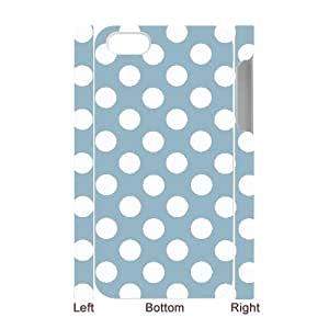 3D Bumper Plastic Case Of Polka dot customized case For Iphone 4/4s