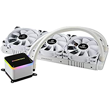 Enermax LIQTECH II 360 Addressable RGB All-in-one CPU Liquid Cooler Dual Chamber Intel/AMD Support AIO ARGB LED Cooling 500+ TDP White (ELC-LTTO360-TBP-W)