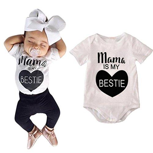 Yoyorule Newborn Baby Boys Girls Cotton Print Romper Jumpsuit Bodysuit (0-6 Months, White) (4 Piece Fur Costume)