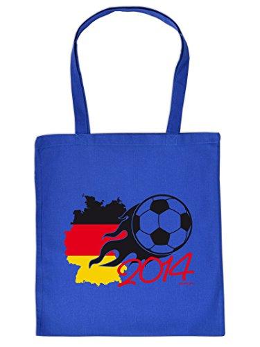 2014 :Tote Bag Henkeltasche Beutel mit Aufdruck. Tragetasche, Must-have, Stofftasche,Ball,Sport,Fan,Fußball