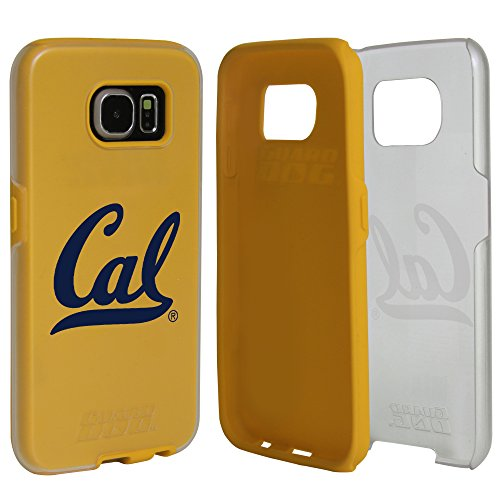 Guard Dog Cal Berkeley Golden Bears Clear Hybrid Case for Samsung Galaxy S6 with Yellow Insert and Guard Glass Screen Protector