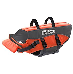 Dog Life Jacket Ripstop Life Jacket for Dogs by Outward Hound, Large, Orange
