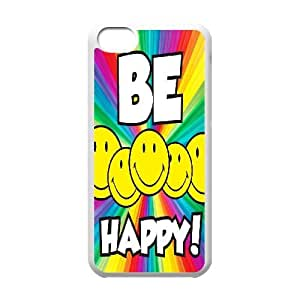 Custom Funny Emoji Face Cover Case, Custom Hard Back Phone Case for iPhone 5C Funny Emoji Face