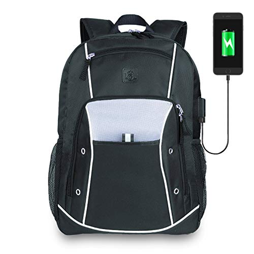 Backpack Laptop up To 15.6 - Best Computer Backpack For Laptops 13 14 15 - College Student Laptop Backpack USB Charging - Work Business Backpack Men Women - Travel Carry On Backpack - Black (Best Computers For College Students)