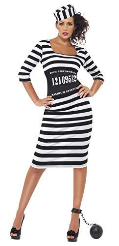Smiffys Classy Convict Costume, Black/White,