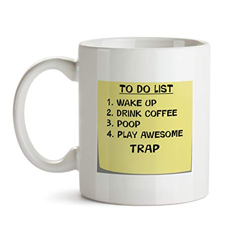 Trap Music Gift Mug - AA53 To Do List Post It Note Funny About Musical Lover Quote Theme Themed Coffee Gift Novelty Cup For Teacher Director Player For Men Women