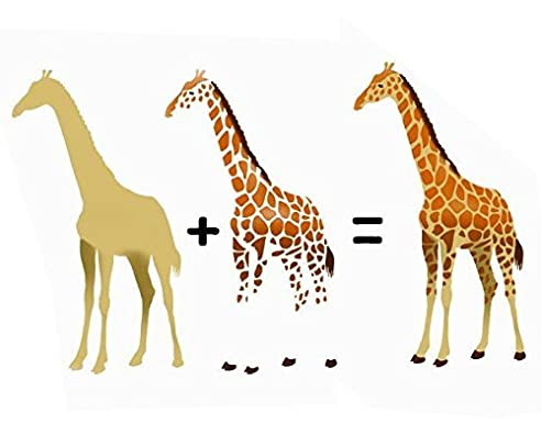 giraffe zweilagig schablone tier heim kinderzimmer wand malen dekoration kunst handwerk small 26cm high - Kinderzimmer Dekoration Handwerk