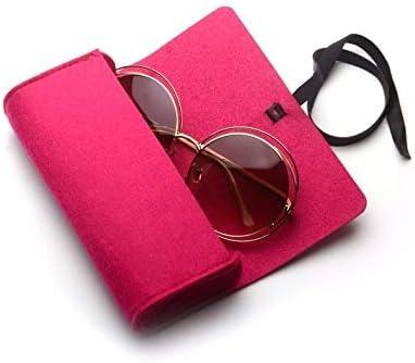 WXK Estuche de anteojos, Sentían el Caso de la Cremallera de protección, Gafas de Sol/Gafas (Color : Magenta): Amazon.es: Hogar