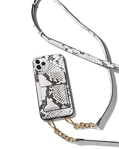 Sonix Cell Phone Case Protective Clear for Apple iPhone Xs Max, iPhone 11 Pro Max, iPhone 11 Pro Max (Wallet - Gray Python Crossbody)