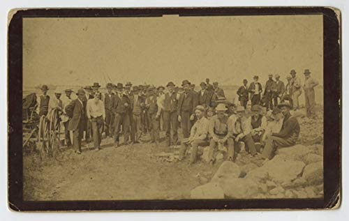 19th Century Oversized Cabinet Card - Group of Gentlemen Workers 5.25 x -