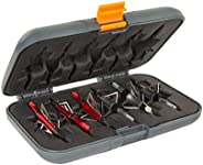 Titan™ Broadhead Box & Caddy, Holds 6 Broadheads, Broadheads with Closed Width Up to 1-3/8 inches, Gray/Or