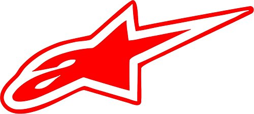 All About Families ALPINESTAR ~ V2 ~ Reflective Red ~ Decal ~ /CAR/Truck/RV/Boat with Alcohol PAD~ Size 6