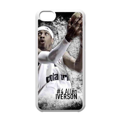 Y4G36 Allen Iverson R3H7FP cas d'coque iPhone de téléphone cellulaire 5c couvercle coque blanche XD7SPR3GD