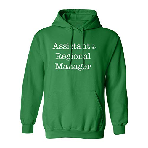 Hooded Sweatshirt Assistant (Assistant to The Regional Manager Adult Hooded Sweatshirt in Kelly Green - XXXX-Large)