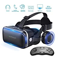 Findbetter VR Headset 3D Glasses, Lightweight Virtual Reality Headset for VR Games & 3D Movies Pack with Remote Controller for iPhone and Android Smartphones