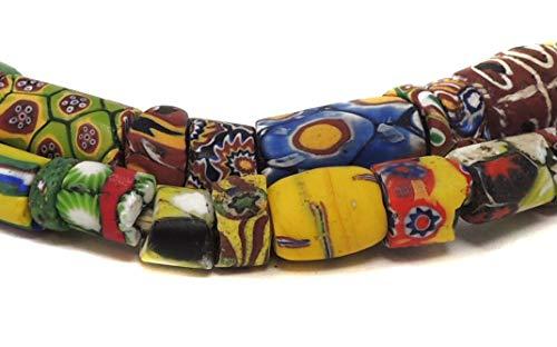 (Millefiori Venetian Trade Bead Mixed Africa 29 inches)