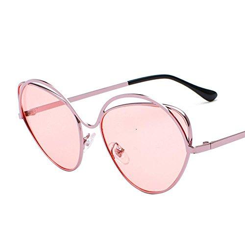 Aoligei Dame de lunettes de soleil cadre métallique ronde face Corée du Sud marée lunettes rondes personnalité masculines pas cheres e4JJF