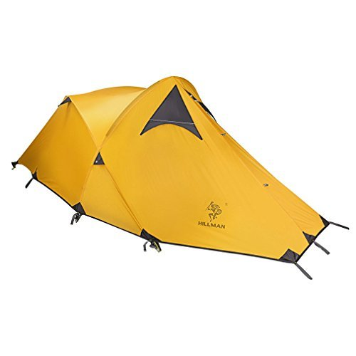 Hillman Portable Camping Tent Silicon Stronger Wind Resistance Tent with Storage Bag,Yellow