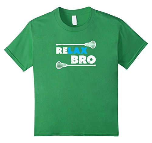 Kids ReLAX Bro Lacrosse Player T-Shirt 8 Grass
