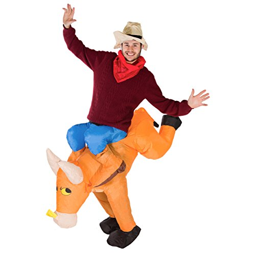 Fancy Dress Animal Costumes (Bodysocks - Inflatable Bull Piggyback Blow Up Animal Adult Fancy Dress Costume)