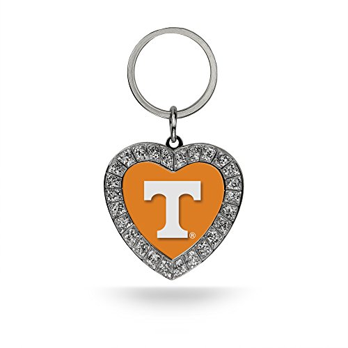 Tennessee Volunteers Ncaa Key Ring - Rico NCAA Tennessee Volunteers Rhinestone Heart Key Chain