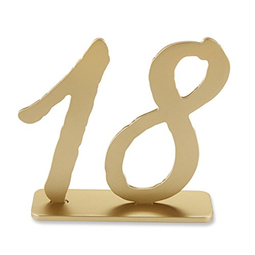 Kate Aspen Good As Gold Classic Table Numbers, Wood Fiberboard Signs, Set of 6 (Numbers ()
