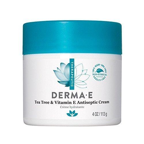 Derma E Tea Tree and Vitamin E Antiseptic Cream 4.0 ounces,113 grams. Pack of 5.