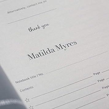 stylo. rose dor/é a5 Bleu Matilda Myres Carnet pour parents