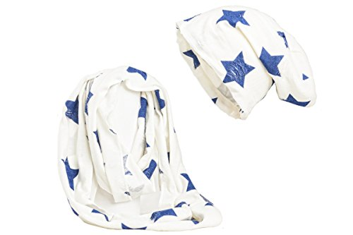 Conjunto gorro estrellas azules braga Shenky con y de Blanco 6dxwp
