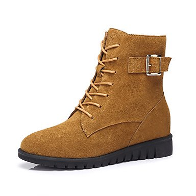 Shoes Nubuck RTRY Yellow Wine EU36 Boots UK4 CN36 Boots For US6 Casual Fashion Leather Women'S Fall Winter UppnxTEw5q
