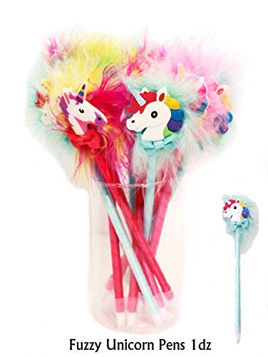 OBI Unicorn Novelty Party Favors 1dozen (12pcs) Birthday Party Favors Supplies for Kids Girls, Prizes Gifts, Reward Box Fillers (Pens)]()