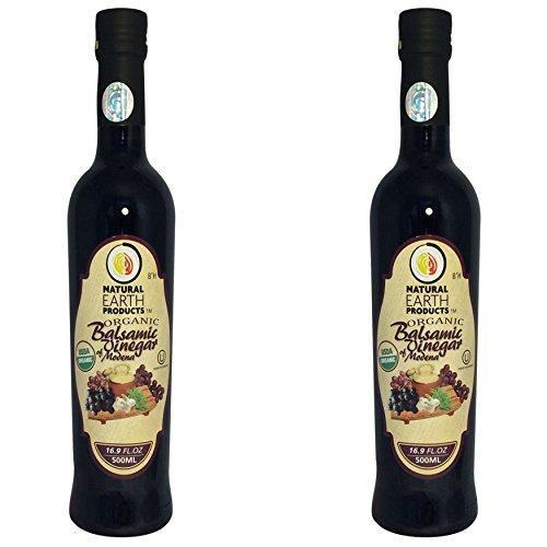 Natural Earth Organic Balsamic Vinegar of Modena, 16.9 fl oz. (Pack of ()