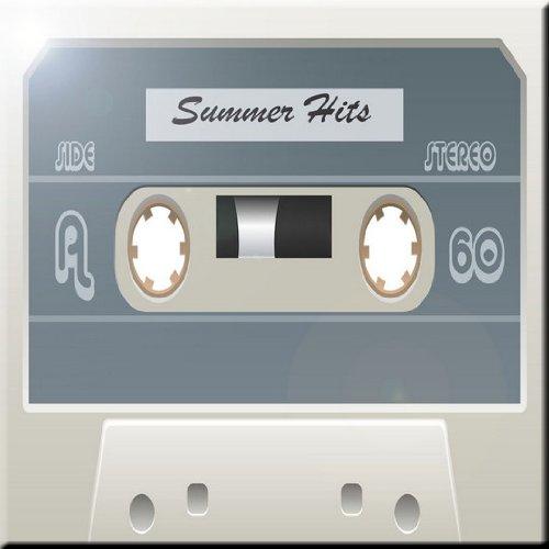 Rikki Knight Cassette Tape White Summer Hits Design Ceramic Art Tile 8 x 8