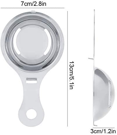 Eiertrenner Eigelb, Eiweiß-Eigelb-Separator, Edelstahl-Eigelb-Separator-Filter-Teiler-Sieb-Küchen-Werkzeug