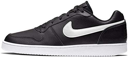 Nike Men's Ebernon Low Basketball Shoe, black/white, 12 Regular US