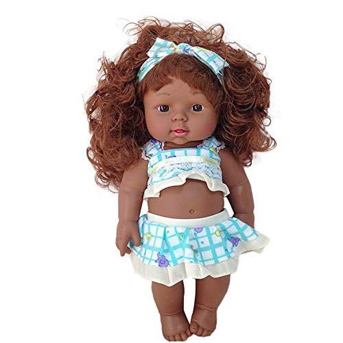 (Euone  Baby Play Dolls, Black Girl Dolls African American Play Dolls Lifelike 12 inch Baby Play Dolls)