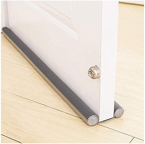 Smart Saver PVC Sound-Proof Reduce Noise Energy Saving Weather Stripping Under Door Twin Draft Stopper (36 inch, Grey)