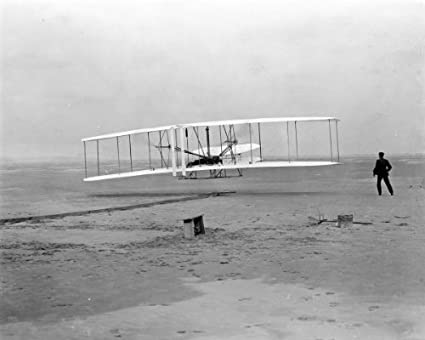 New 8x10 Photo: Wright Brothers First Heavier-than-air Flight at Kitty Hawk