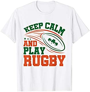 Keep Calm And Play Rugby - Irish Rugby T-shirt | Size S - 5XL