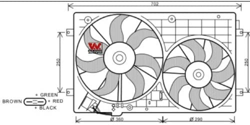 Ventilateur Double Van Wezel 5894748 Cadre