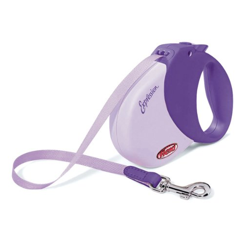 Flexi Expression 16-Feet Retractable Leash for Dogs, Up to 77-Pound, Purple, My Pet Supplies