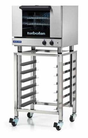 "Moffat E22M3 24"" Turbofan Half-Size Manual/Electric Countertop Convection Oven With Porcelain Oven Chamber, 110-120V"