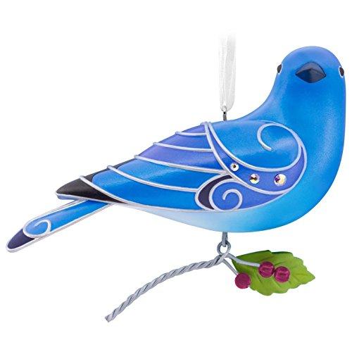 Hallmark Keepsake 2017 Beauty of Birds Mountain Bluebird Christmas Ornament from Hallmark