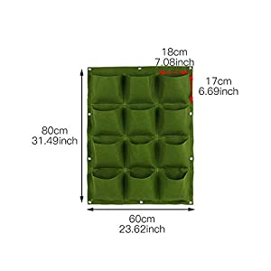 Starry sky Wall Hanging Piantare Borse 18/36/49/72 Tasche Green Grow Bag Planter Verticale Orto Living Garden Bag Fiori… 4 spesavip