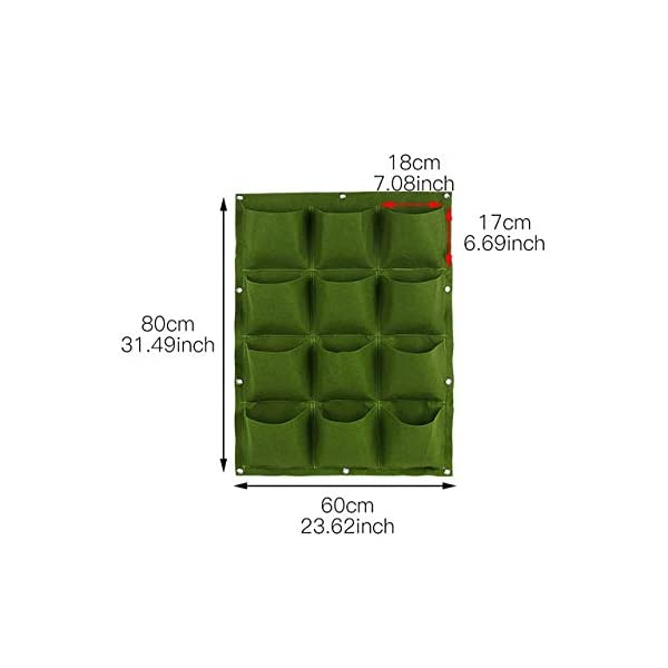 Starry sky Wall Hanging Piantare Borse 18/36/49/72 Tasche Green Grow Bag Planter Verticale Orto Living Garden Bag Fiori… 1 spesavip