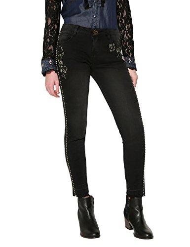 Jeans Donna Slim pipin Blu Denim Denim Desigual 5009 black OqfEt