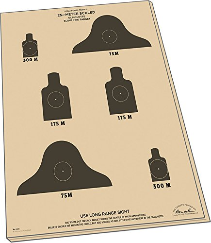 Weatherproof 25m Slow Fire Qualification Targets, M16A1, 17